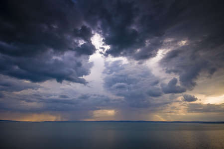 storm over the lake Balaton-Hungary  photo