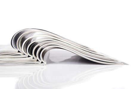 Magazines over white  Stock Photo