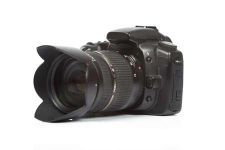 human photography: c�mara digital aislado sobre fondo blanco