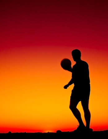 football at sunset Stock Photo - 6737550