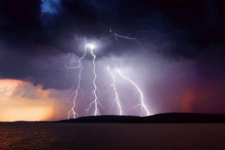 storm over the lake Balaton  photo