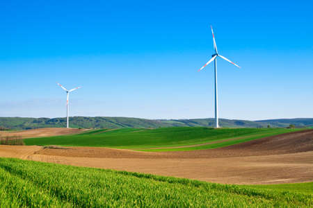 wind energy turbine power station in the rural Stock Photo - 6937581