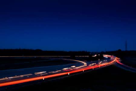 Traffic at night  photo