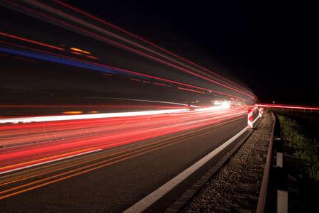 Traffic at night  Stock Photo - 6939261