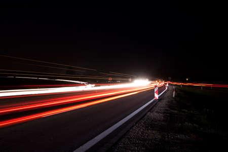 Traffic at night Stock Photo - 6938887
