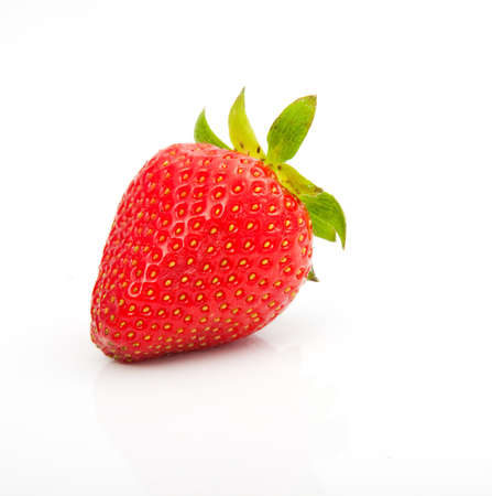 A red strawberry, isolated on a white background.  photo