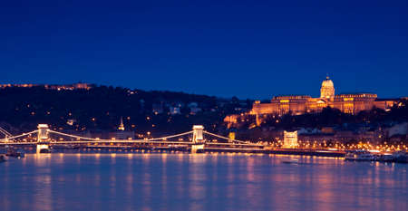 light chains: Night lights in Budapest-Hungary  Stock Photo