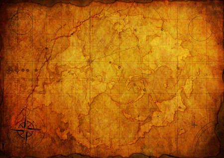 ruder: Antike Karte. Alte Papier Textur