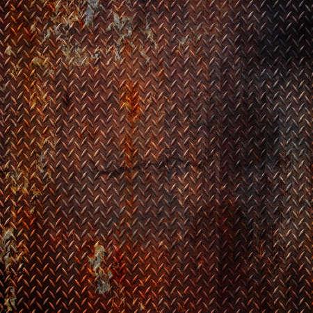 oxidado: Fondo de metal de diamante de grunge