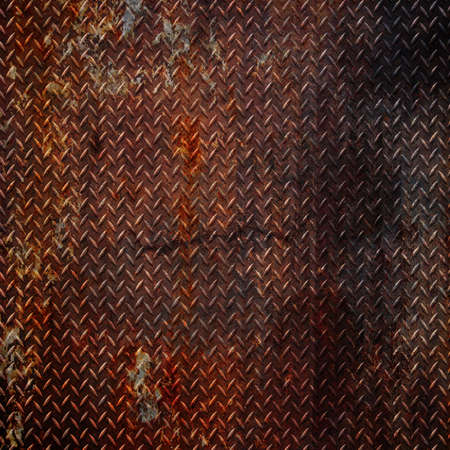 rusty metal: grunge diamond metal background  Stock Photo