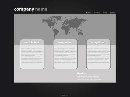 wwwrn: Website Template Vector