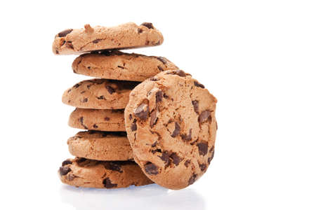 close-up image of chocolate chips cookies