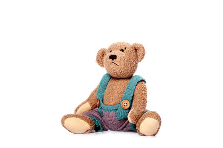 playthings: teddy-bear isolated on white background