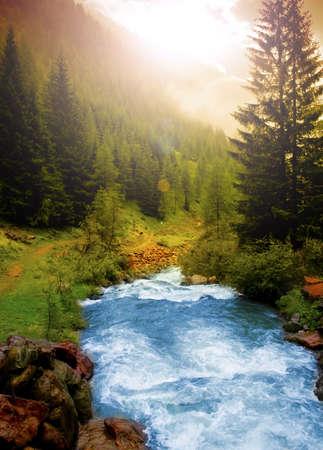 rivers mountains: Mountain landscape