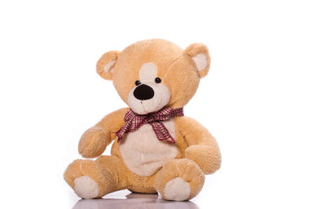 Teddy-bear isolated on a white background Stock Photo - 9326772