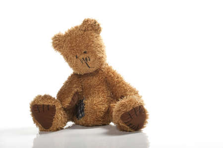 Teddy-bear isolated on a white background photo
