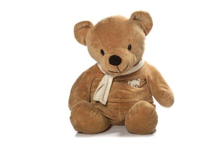 vintage teddy bears: Orsacchiotto isolato su uno sfondo bianco Archivio Fotografico