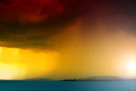 storm over the lake Balaton  photo