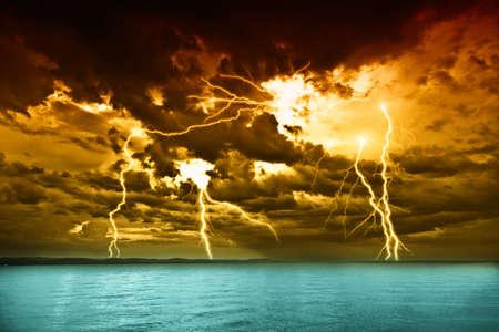 storm: storm over the lake Balaton