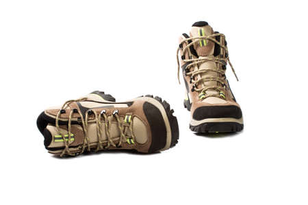 new hiking boots on white background Stock Photo - 9344925