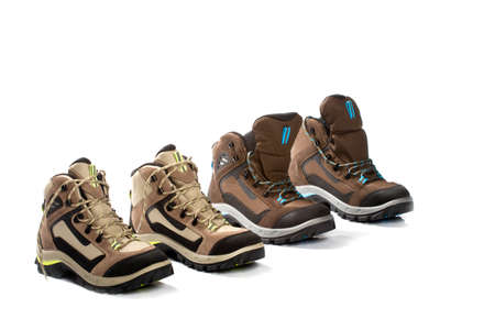 new hiking boots on white background Stock Photo - 9344929