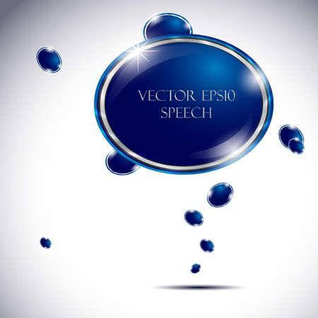 Colorful vector speech bubble  Vector