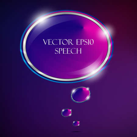 Speech Bubble Made of Light Vector Design Vector