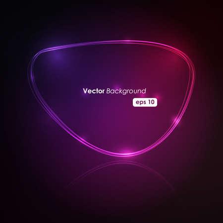 Speech Bubble Made of Light Vector Design