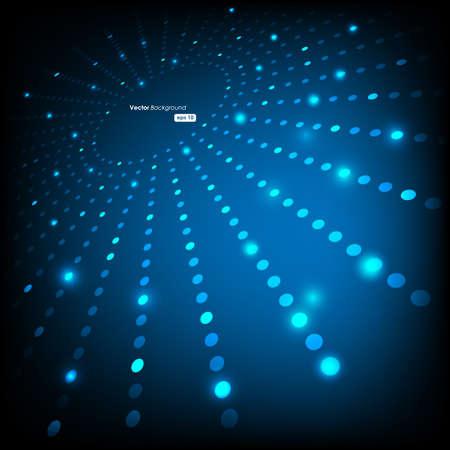 vision nocturna: EPS10 Fondo de Vector abstracta de perspectiva puntos