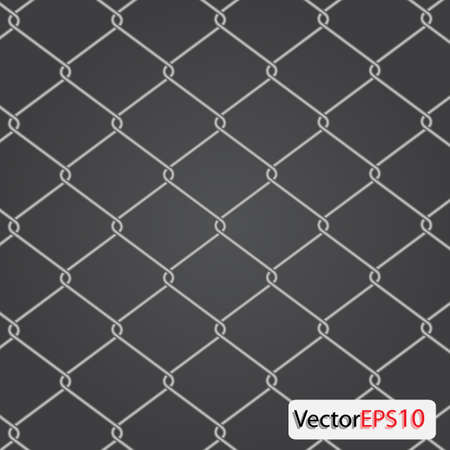 chain Fence. Vector illustration Stock Vector - 9364670