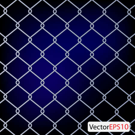 chain Fence. Vector illustration Stock Vector - 9364671