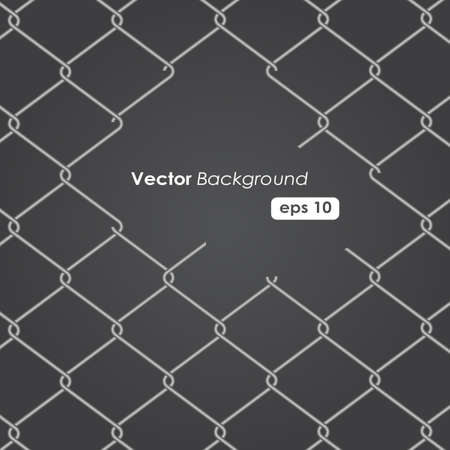 chain fence: chain Fence. Vector illustration Illustration