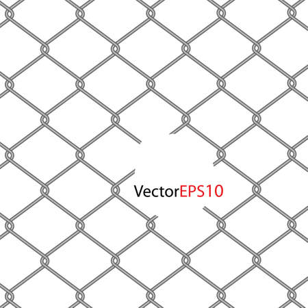 chain Fence. Vector illustration Stock Vector - 9364669
