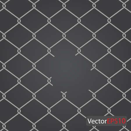 chain Fence. Vector illustration Stock Vector - 9364668