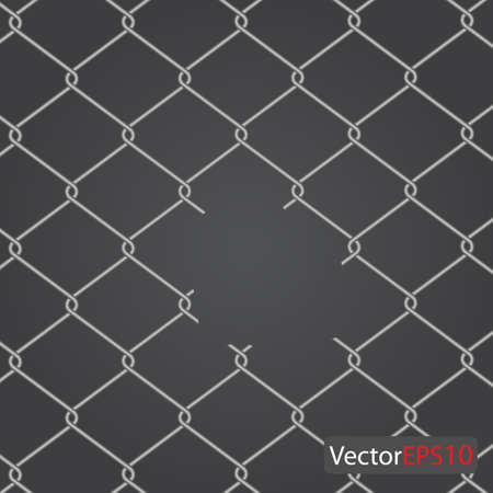 geketend: ketting hek. Vectorillustratie