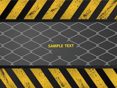 geketend: Achtergrond bouwwijze met bekabelde hek  Stock Illustratie