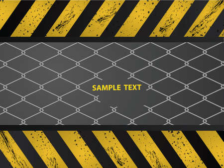 Construction background design with wired fence  Illustration