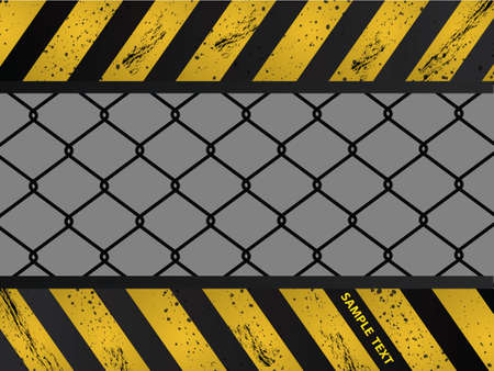 Construction background design with wired fence  Stock Vector - 9499563