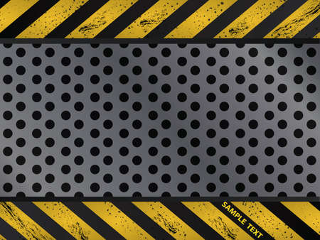 metal grate: Steel metal plate background vector Illustration