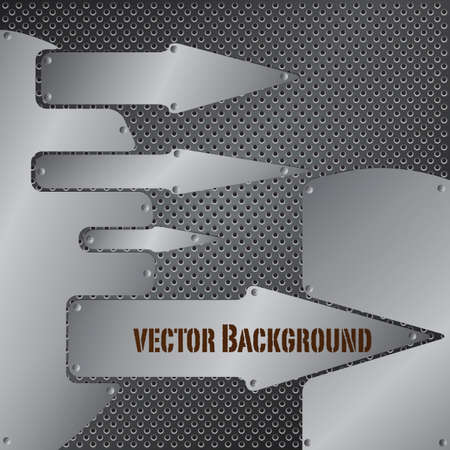 Abstract metal background. Stock Vector - 9583920