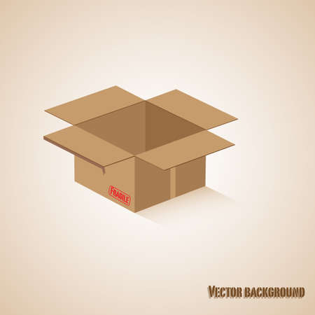 Carton boxes  Vector