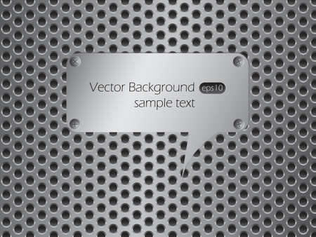 Metallic speech bubble. Vector