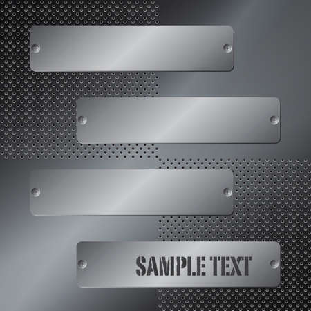 steel plate: Abstract metal background.  Illustration