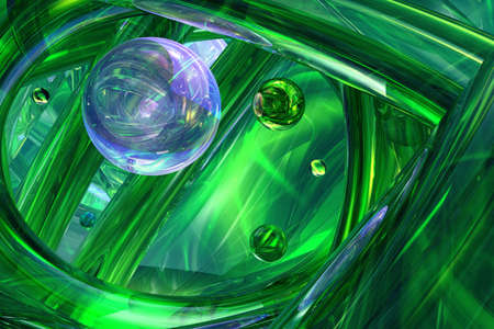 Dark Green 3D abstract background  photo