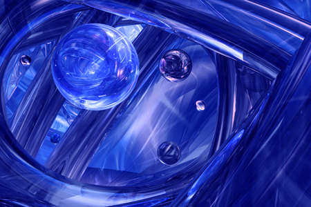 Indigo 3D abstract background Stock Photo - 9811092