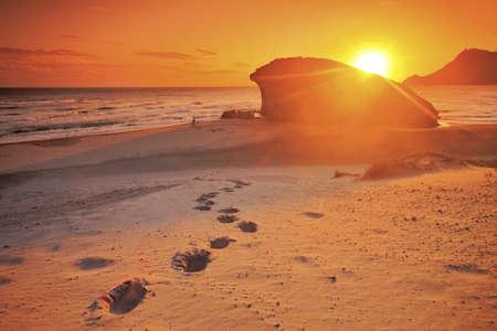 Monsul beach, Cabo de Gata natural park, AlmerIa, Spain  Standard-Bild