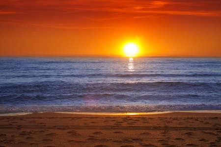 Colorful sunset over the sea -Spain, Almeria Standard-Bild