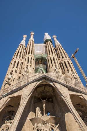 La Sagrada Familia in Barcelona, Spain.
