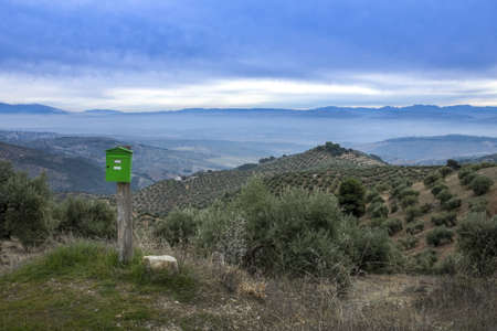 Mailbox in the Sierra Nevada, in Granada, Spain photo