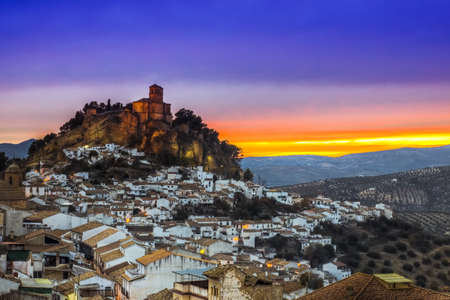 View over Montefrio in Granada, Spain towards the Moorish castle on the hill. photo